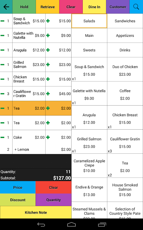Restaurant Point of Sale | Cash Register - W&O POS Screenshot 17