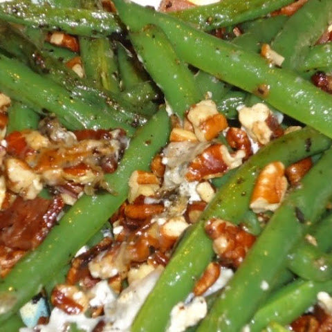 Haricots Verts with Bacon and Blue Cheese