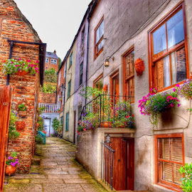 old stable whitby by Betty Taylor - Buildings & Architecture Homes ( doorways, hdr, buildings, whitby, street photography )