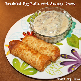 Breakfast Sausage Egg Rolls
