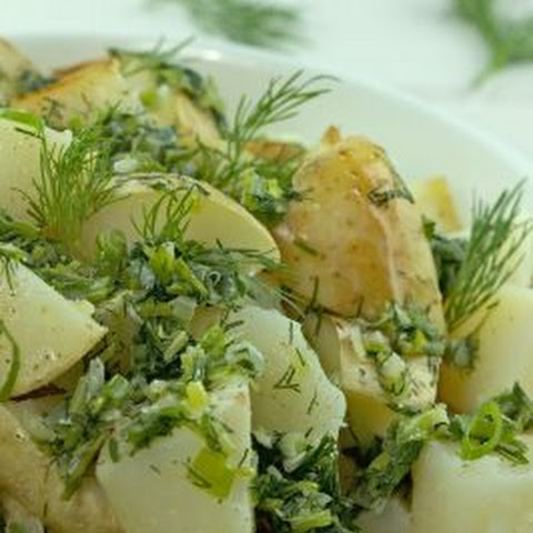 Potatoes with Green Onion & Dill