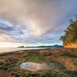 Punta calavera by Annette Flottwell - Landscapes Beaches ( santa rosa, roca, guanacaste, playa, beach, punta calavera, la cruz )