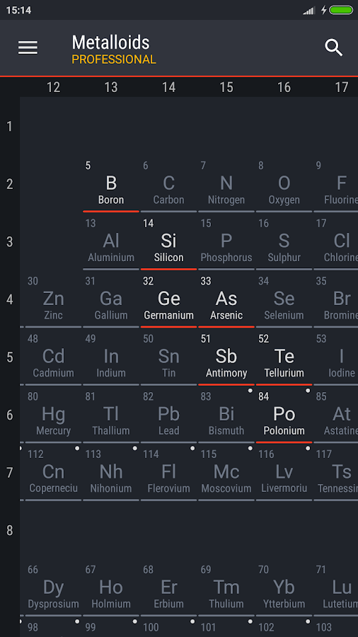 Periodic table 2018 pro apk cracked free download cracked periodic table 2018 pro screenshot 6 urtaz Gallery