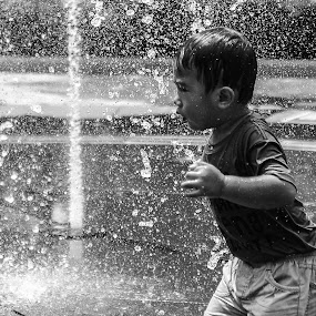 fountain shower by Cuandi Kuo - Babies & Children Children Candids