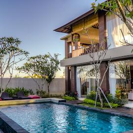 Holiday Villa @ Bali by Varok Saurfang - Buildings & Architecture Homes ( holiday, bali, villa, exterior, pool, swimming pool )