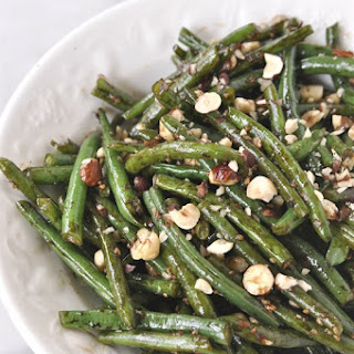 Hazelnut Balsamic Green Beans