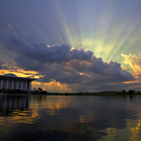 Ray Of Light at Putrajaya by Sharulfizam Adam - Landscapes Weather
