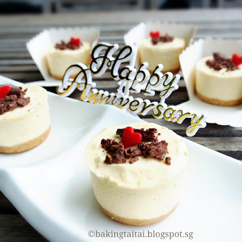Non-bake Mini Durian Cheesecake