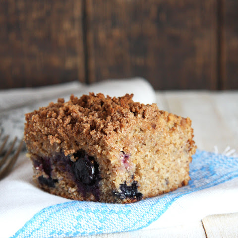 Blueberry Coffee Cake with Coconut Flour Crumble