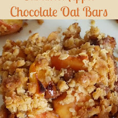 Caramel Apple Chocolate Oat Bars