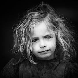 Victorian Street Urchin by Les Wiggin - Black & White Portraits & People ( black & white, closeup, reenactor, victorian, portrait, people, child )