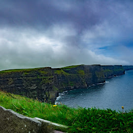 Cliffs of Moher in Ireland by Jeana Caywood - Landscapes Travel ( cliffs, ireland, moher, fog, travel,  )