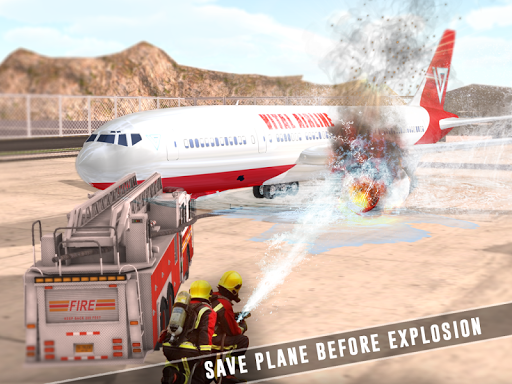 Airplane Flight Airport Rescue - screenshot