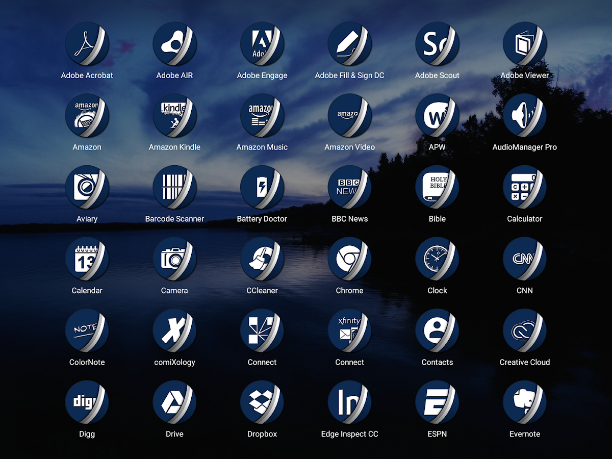 Naz Dal Blue - Icon Pack Screenshot 8