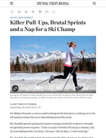 Kikkan Randall for the Wall Street Journal