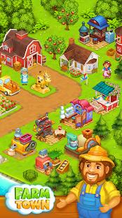 Bauernhof Ort: Glückliches Dorf in der Nähe von kleinen Stadt und Stadt android spiele download