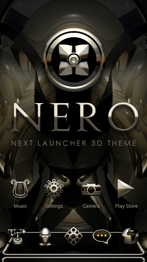NERO Next Launcher 3D Theme Screenshot