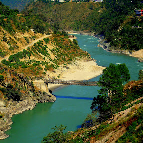 come cross the line by Saheb Santanu - Landscapes Mountains & Hills ( mountain, bridge, hill station, landscape, river )