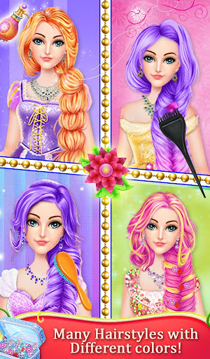 Princess Doll Long Hair Salon - screenshot