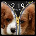 Zipper Lock Screen Puppy