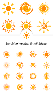Sunshine Weather Emoji Sticker - screenshot