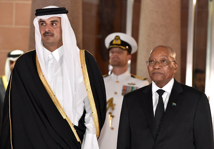 Emir of Qatar arrives for historic state visit to Kenya