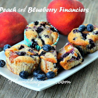 Peach and Blueberry Financiers