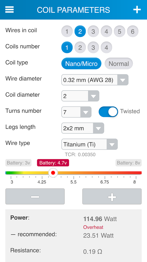 Reprova MicroCoil Calc Screenshot 0