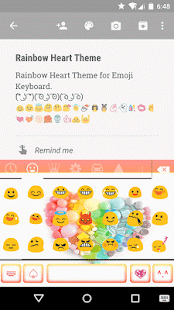 Rainbow Heart Keyboard Emoji - screenshot