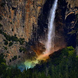 by Soumi Halder - Instagram & Mobile Other ( rainbow, bridalfalls, Yosemite, California, Landscape, colour, falls, USA, America, nature, Nikon_D3100, NikonPhotography, travel, Valley )