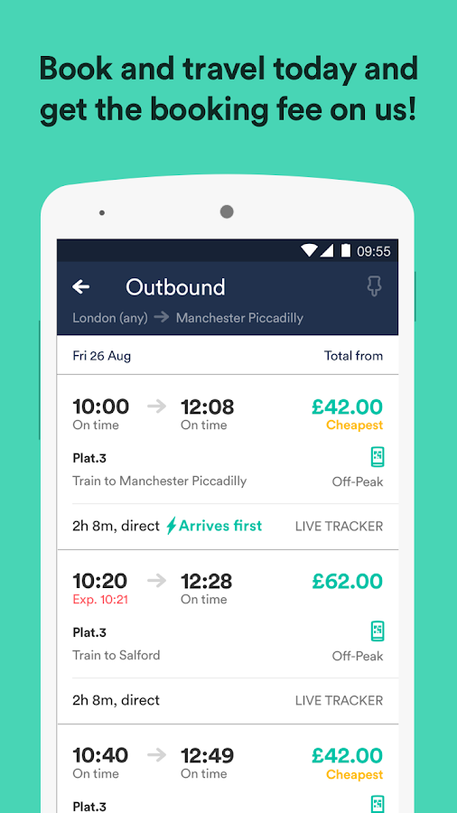 Trainline – times & tickets Screenshot 1