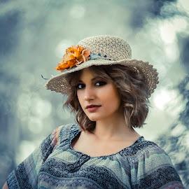 Danica by Dragana Trajkovic - People Portraits of Women ( woman, helios, hats, bokeh, model, portrait )