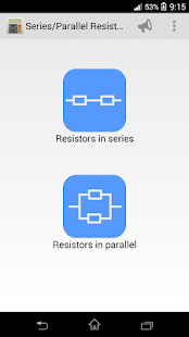 Series/Parallel Resistors - screenshot