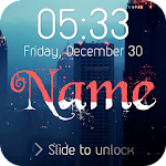 Wave Name Lock Screen APK