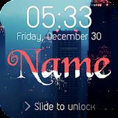 Wave Name Lock Screen APK for Bluestacks