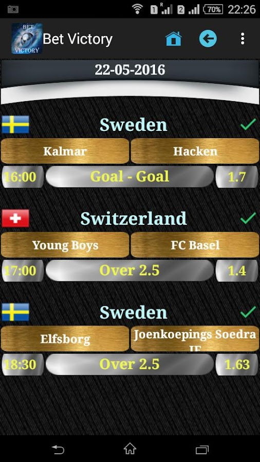 Bet Victory - Betting Tips Screenshot