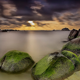 The Torch II by Eddie Cheever - Landscapes Sunsets & Sunrises ( belitong, sunset, indonesia, stone, tanjungtinggi, landscape, belitung )