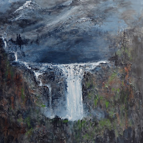 Angel falls by Deb Dicker - Mixed Media All Mixed Media