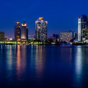 Dubai Blue Hour by Chirag Mer - Landscapes Waterscapes ( blue hour )