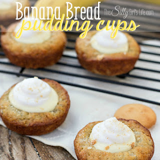 Banana Bread Pudding Cups