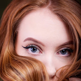 red hair by Alan Payne - People Portraits of Women