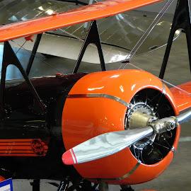 Biplane by Linda Andersen - Transportation Airplanes
