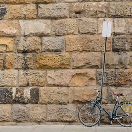 No Parking by Jervin Reyes - Transportation Bicycles ( dc, washington, bicycles, walls, bike, bricks, transportation )