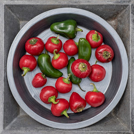 Cool Hot Peppers by Jim Downey - Food & Drink Fruits & Vegetables ( food design, chili peppers, cherry bomb pepper, jalapeno pepper )
