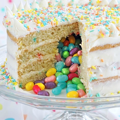 Gluten Free Surprise Inside Jelly Bean Cake