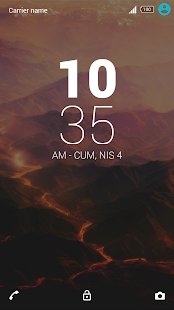 The Lava Theme for Sony Xperia - screenshot