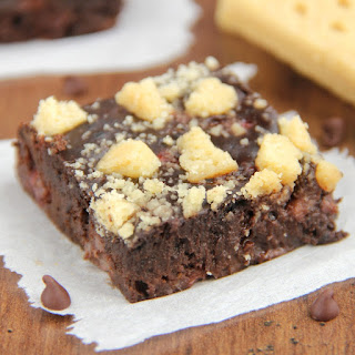 Fudgy Strawberry Shortbread Brownies
