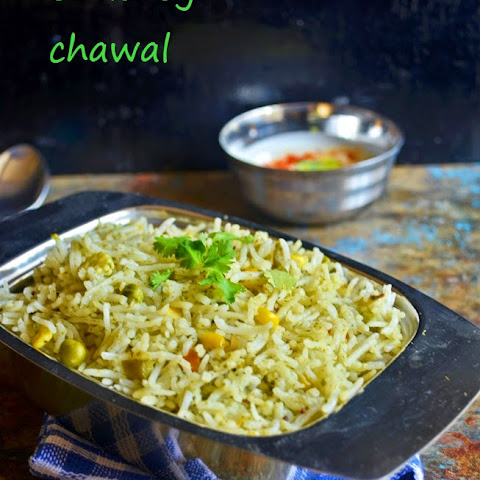 Mint-coriander pulao reipe | chutney chawal recipe | Pulao recipes