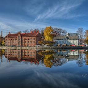 Mirror by Manu Heiskanen - Uncategorized All Uncategorized ( water, mirror, sweden, blue, eskilstuna, reflecting )