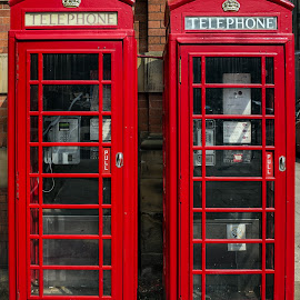 Phonebox by Darrell Evans - Artistic Objects Other Objects ( icon, call, phone, uk, k6, communication, british, k6 telephone box, traditional, travel, booth, bt, england, red, telephone box, gpo, service, telecom, box, public, payphone, telephone, english, kiosk, britain,  )